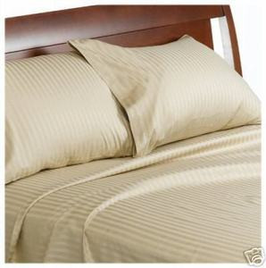 "400TC Satin CAL California KING Sheet Set 100% Cotton 16"" Deep - Off White"