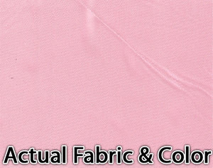 Voile Silk Satin Curtain With Attached Valance & Liner - Pink
