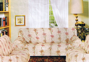 Sofa + Loveseat + Chair Slipcover Set 3 pc. Peach & Flowers