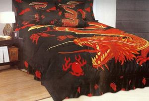 "Queen ""Dragon"" Bed in a Bag 7 pc. Comforter Bedding Set"