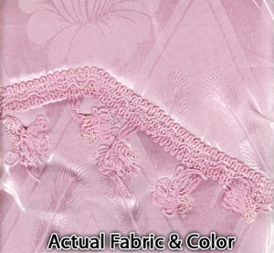 Window Curtains / Drapes with Valance & Liner - Pink