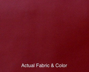 Voile Silk Satin Curtain With Attached Valance Burgundy