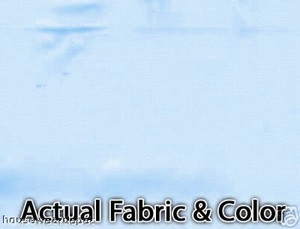 Voile Silk Satin Curtain With Attached Valance - L.Blue