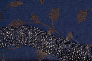 BLACKOUT Curtains Drapes attached Valance Liner -N.Blue