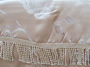 BLACKOUT Curtains Drapes attached Valance Liner - Beige