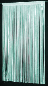 "String Thread Stripe Corridor Curtain Turquoise 40""x99"" 191"