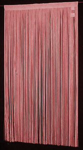 "String Thread Stripe Corridor Curtain Burgundy 40""x 84"""