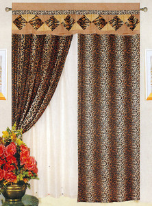 NEW!! - Tiger / Leopard Velvet Window Curtains / Drapes