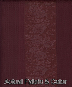 NEW -Window Rings Curtains / Drapes Set  Burgundy Color