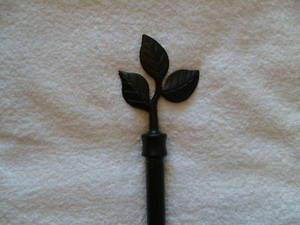 """Curtain Drape Drapery EXTENDABLE ROD Set 96""""-172"""" Black 180783101652"""