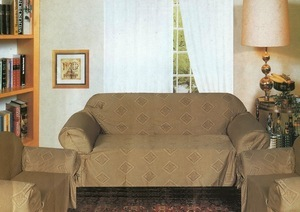 Sofa Loveseat Chair Slipcover slip cover 3pc Set -Taupe