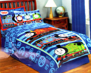 Twin Thomas and Friends Comforter Set 5pc w/ Curtains