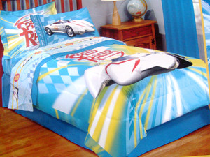 Brand New!!! - Twin Speed Racer Comforter Set 3 pc.