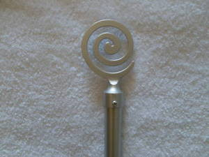 "Curtain Drape Drapery EXTENDABLE ROD Set 172-240""Silver 1020"