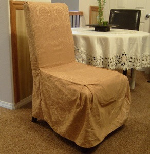 NEW - 6 Pc. Dining Room CHAIR SLIPCOVER FIT set - Gold