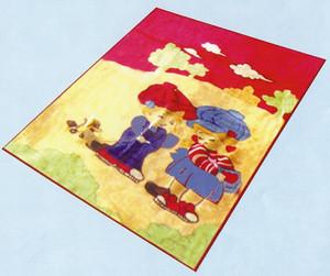 Baby / Junior Boy and Girl mink plush raschel blanket