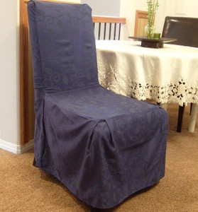 1pc Dining Room CHAIR Furniture SLIPCOVER FIT Navy Blue
