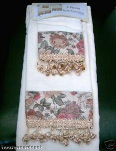 3 pc Bath Towels Ensemble - Bath + Hand + Wash Towels 011