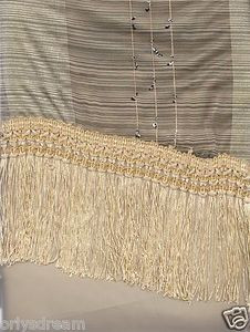 "New Elegant Curtain / Drape Set + Valance + Backing + Tie Backs ""Angela"" BEIGE"
