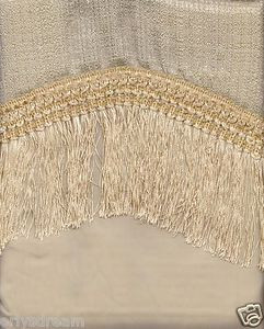 "New Elegant Curtain / Drape Set + Valance + Backing + Tie Backs ""Marisol"" BEIGE"