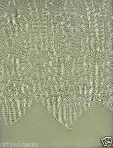"New Beautiful Elegant SHEER & LACE 2 Panels Curtains/Curtain Set ""Belle"" - SAGE"