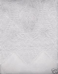 "New Beautiful Elegant SHEER & LACE 2 Panels Curtains/Curtain Set ""Belle"" - WHITE"