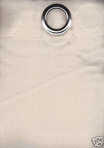 2 Panels Grommet Polyester Curtain Drape Window Covering Panel New - Solid BEIGE