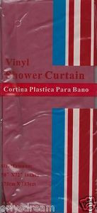 "NEW Vinyl Shower Curtain Liner 70"" x 72"" (178cm x 183cm) With Magnets - BURGUNDY"