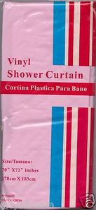 "NEW Vinyl Shower Curtain Liner 70"" x 72"" (178cm x 183cm) With Magnets - PINK"