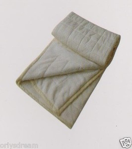 QUEEN Soft BORREGO Suede/Wool Style QUILTED MicroFiber Blanket/Throw - BEIGE