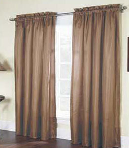"""Solid Thermal Insulated Back 2 Panels Rod Pocket  Blackout Curtain  84""""L - TAUPE"""