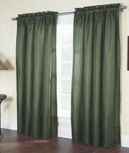 """Solid Thermal Insulated Back 2 Panels Rod Pocket  Blackout Curtain  84""""L - OLIVE"""