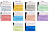 Box of 150 Colored Overlays