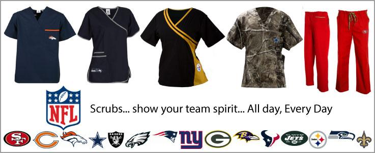 NFL Scrubs for Men and Women