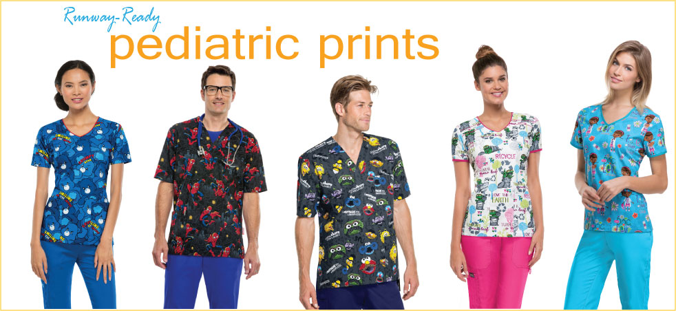 Pediatric Print Scrub Tops