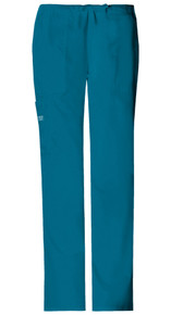 Cherokee Core Stretch 4044 : Elastic Waist Drawstring Cargo Scrub Pants For Women*