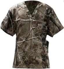 Camo Scrub Top with Real Tree Fabric