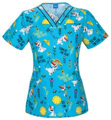 Frozen Women's Olaf Scrub Top