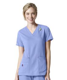 Carhartt Cross-Flex : V Neck Multi Pocket Scrub Top for Women*