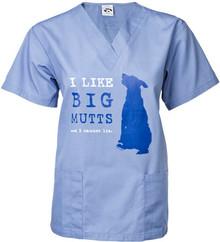 I Like Big Mutts Unisex Scrub Top
