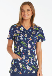 Dr Seuss - What Pet Should I Get Scrub Top For Women