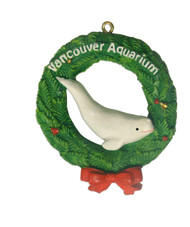 Beluga in Wreath Ornament