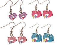 Dolphin Glitter Earring