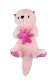 Pink Sea Otter Stuffy 15""