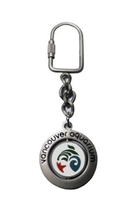 Vancouver Aquarium Logo Spinner Key Ring