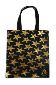 Gold Sea Stars Tote Bag