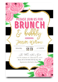 Bridal Shower Invitation, Floral Black And White, Kate Spade Invitation, Kate  Spade Bridal