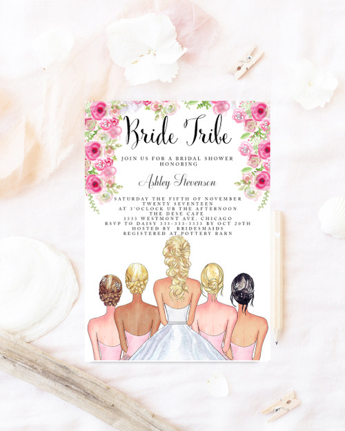 Bridal shower invitation Bride tribe bridal shower invite