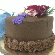 Caramel Cake with Fudge Heaven Frosting
