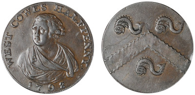 Thomas Aryton, Commercial Halfpenny, 1798 (D&H Hampshire 94)